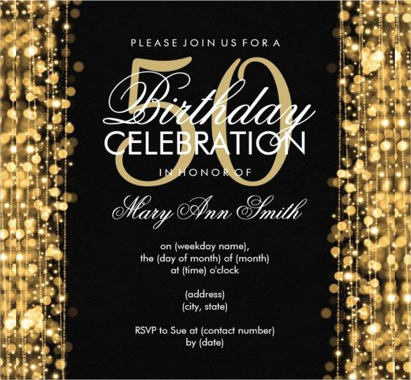 50th Birthday Invitation Template Luxury 45 50th Birthday Invitation Templates – Free Sample