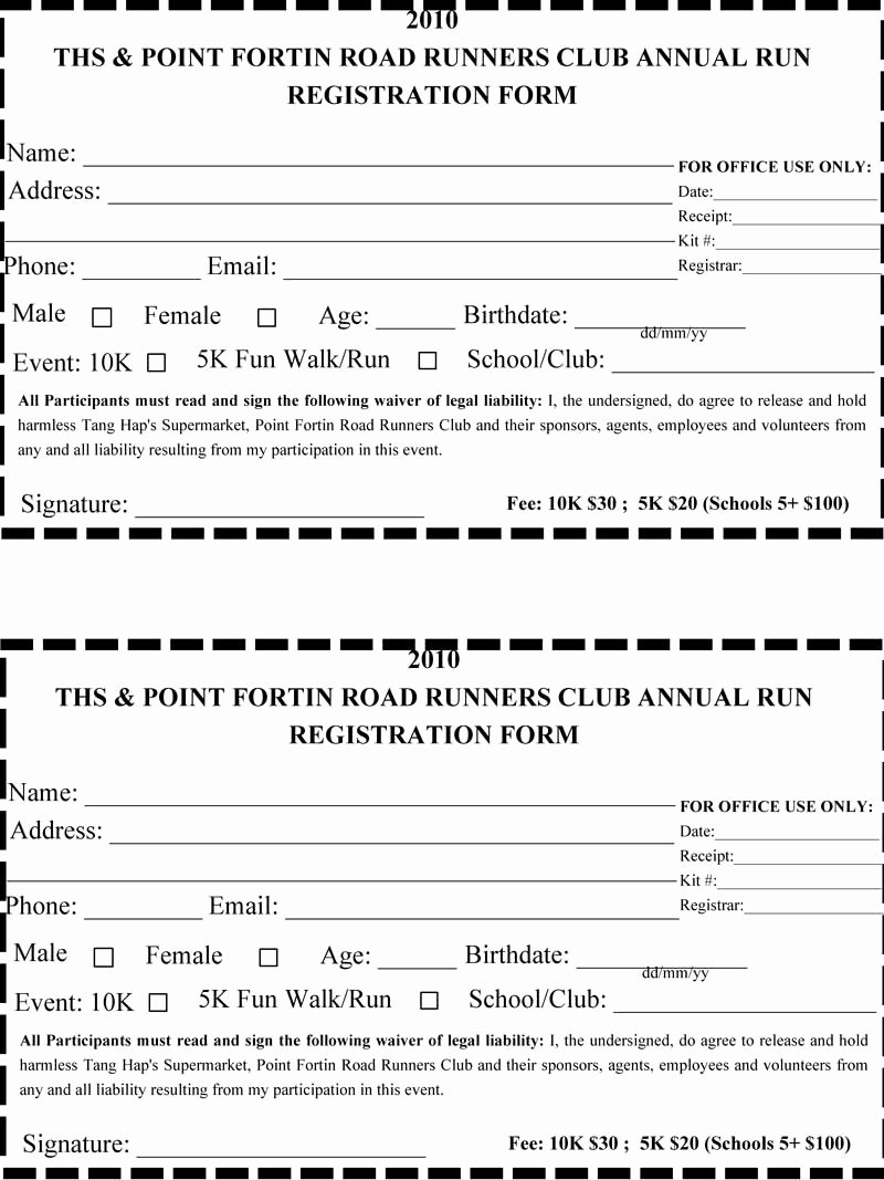 5k Registration form Template Elegant 5k Sign In Sheet Template Search Results