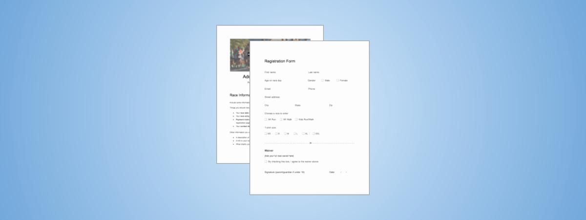 5k Registration form Template Luxury 5k Registration form Templates
