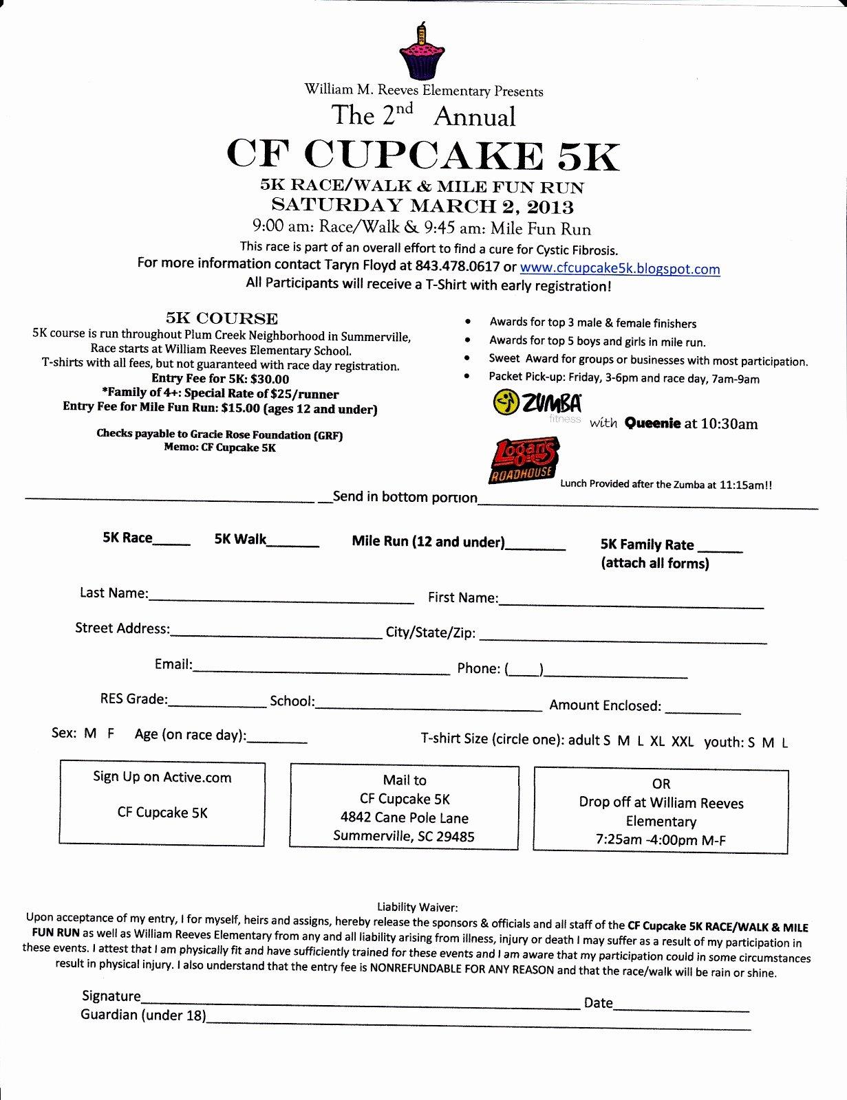 5k Registration form Template Luxury 5k Sign Up Sheet Template