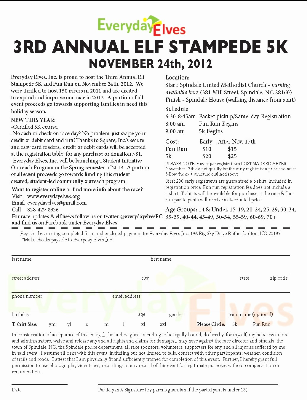 5k Registration form Template Unique 5k Registration forms Runners Can Also Register On