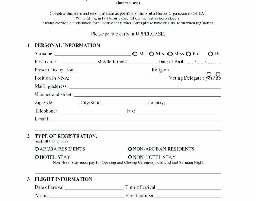 5k Registration form Template Unique 5k Registration Template Race Registration form Template