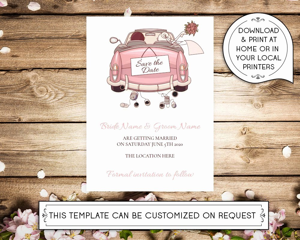 5x7 Invitation Template Word Awesome Diy Printable 5x7 Save the Date Invitation Template Car