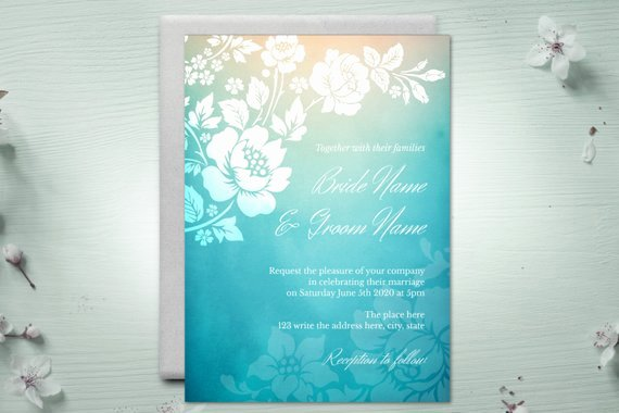 5x7 Invitation Template Word Best Of Diy Printable 5x7 Wedding Invitation Template Roses