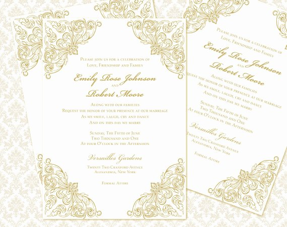 5x7 Invitation Template Word Best Of Diy Wedding Invitation Printable Template 5x7 Invitation