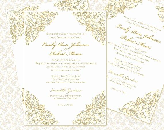 5x7 Invitation Template Word Best Of Diy Wedding Invitation Printable Template 5x7 Invitation