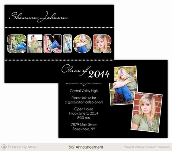 5x7 Invitation Template Word Best Of Senior Word 5x7 Senior Graduation Announcement