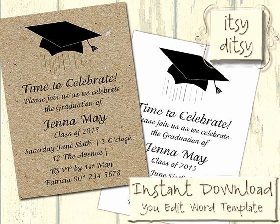 5x7 Invitation Template Word Fresh 17 Best Ideas About Graduation Invitation Wording On