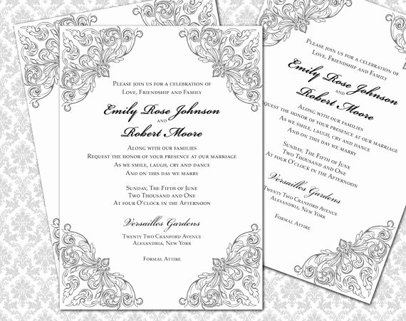 5x7 Invitation Template Word Luxury 5 X 7 Invitation Template Word