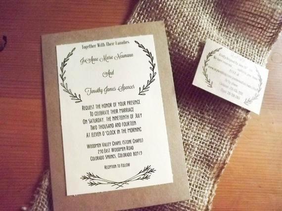 5x7 Invitation Template Word Luxury Items Similar to Printable Classy Rustic Wedding