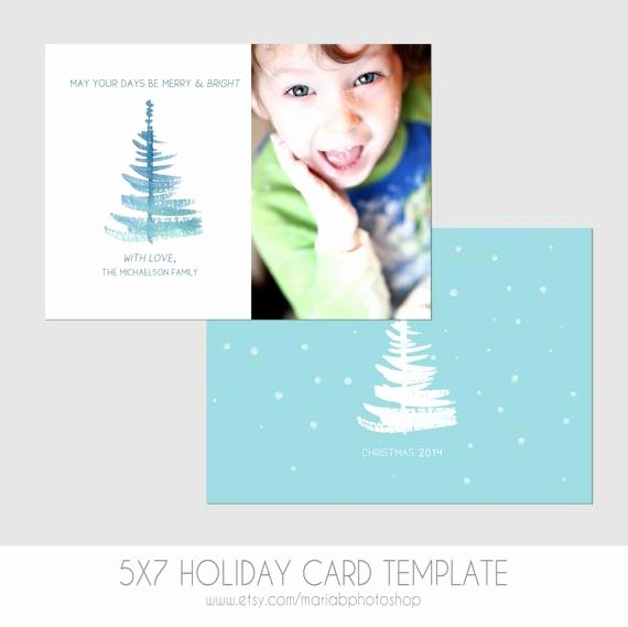 5x7 Postcard Mailing Template Beautiful Items Similar to 5x7 Christmas Card Template Front and