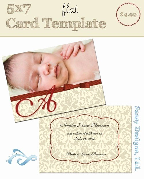 5x7 Postcard Mailing Template Best Of 5x7 Flat Card Template Classy