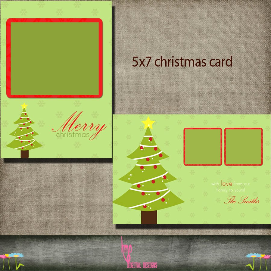 5x7 Postcard Mailing Template Elegant Christmas Card Postcard 5x7 Christmas Holiday Card Psd