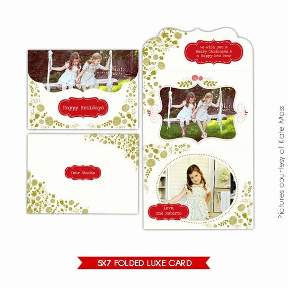 5x7 Postcard Mailing Template Elegant Instant Download 5x7 Folded Luxe Card Template Garden