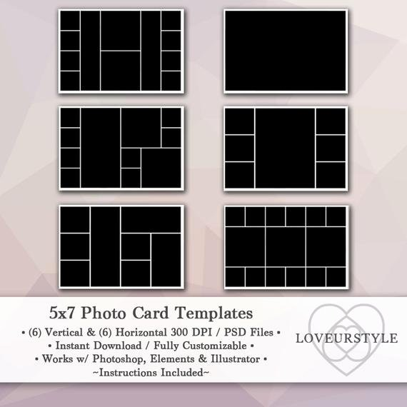 5x7 Postcard Mailing Template Fresh 5x7 Template Pack 12 Templates Collage