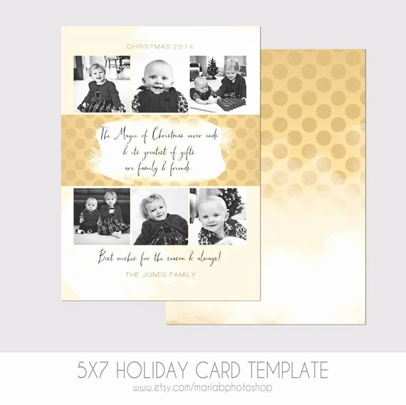 5x7 christmas card template modern