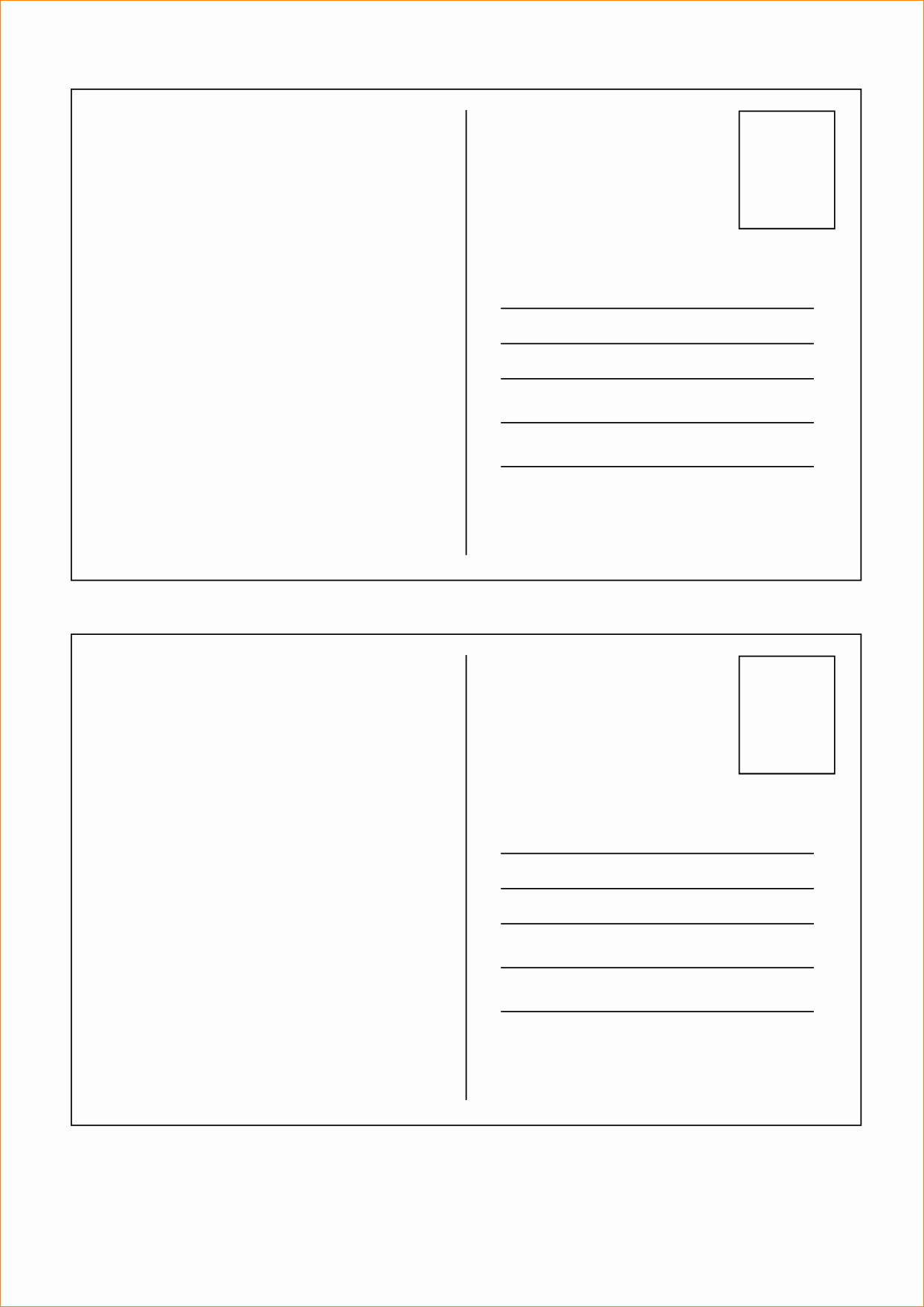 5x7 Postcard Mailing Template Lovely 5x7 Postcard Template for Word Free Postcard Templates