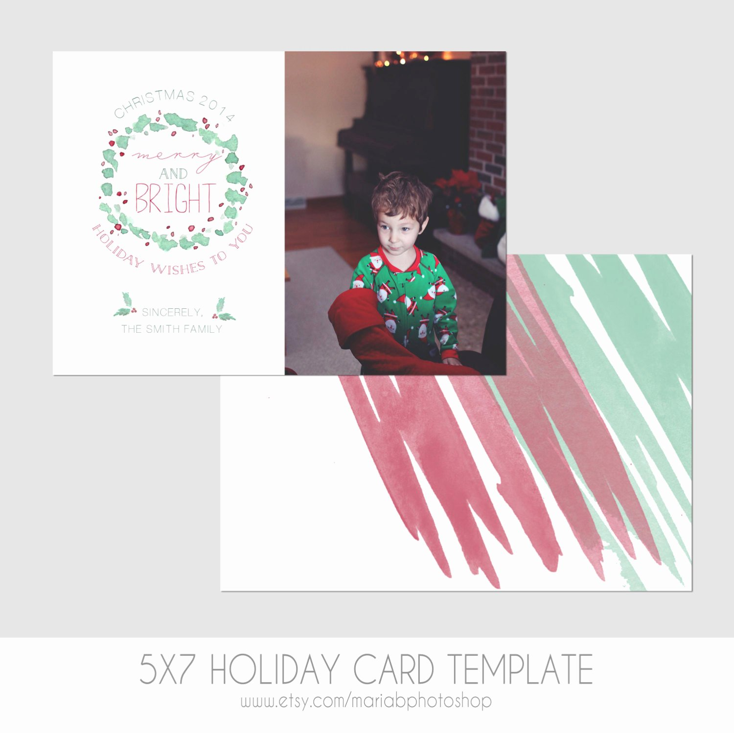 5x7 Postcard Mailing Template Luxury 5x7 Christmas Card Template Front and Back Modern