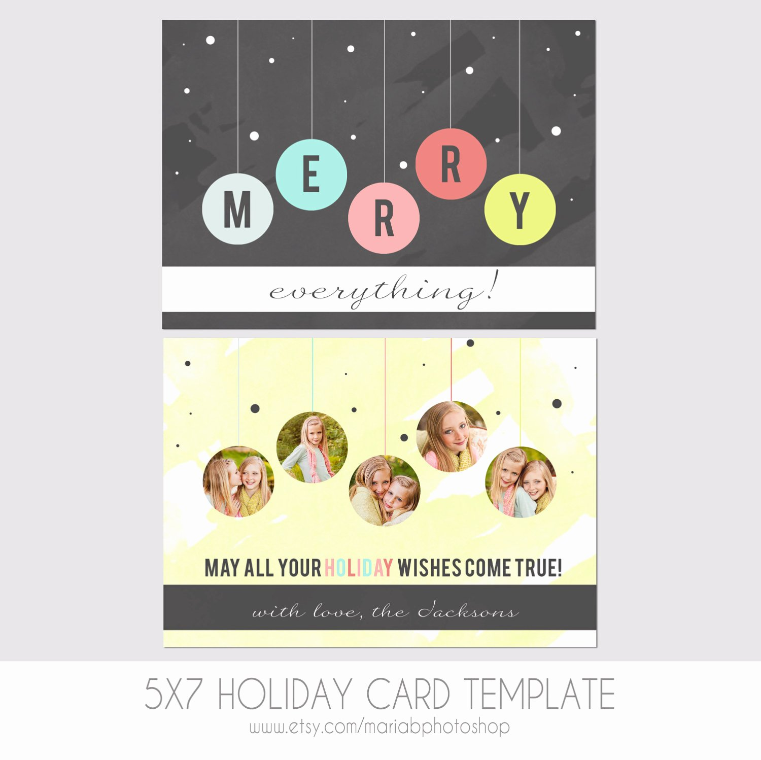 5x7 Postcard Mailing Template New 5x7 Christmas Card Template Front and Back Modern