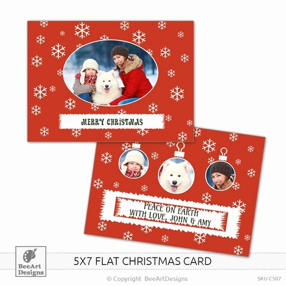5x7 Postcard Mailing Template New Items Similar to Instant Download 5x7 Christmas Flat