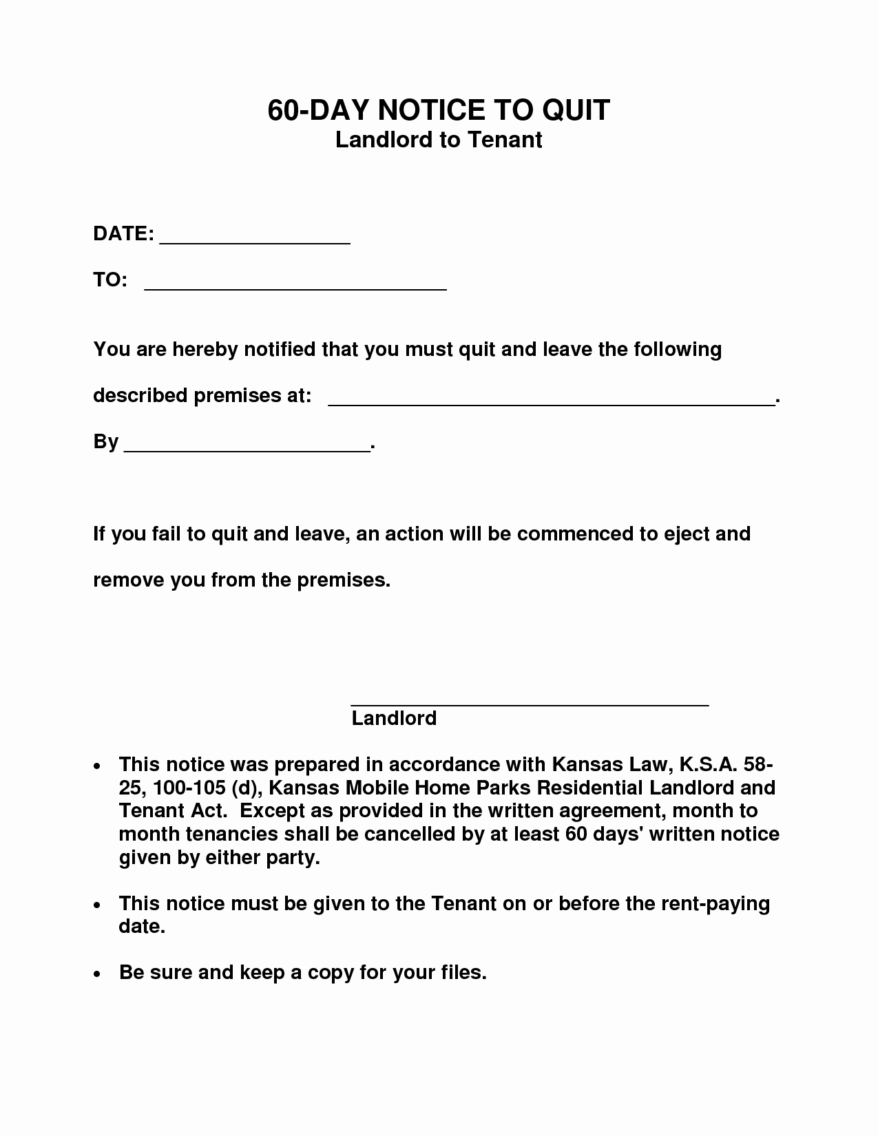 60 Day Notice Template Best Of 10 Best Of 60 Day Notice form 30 Day Eviction