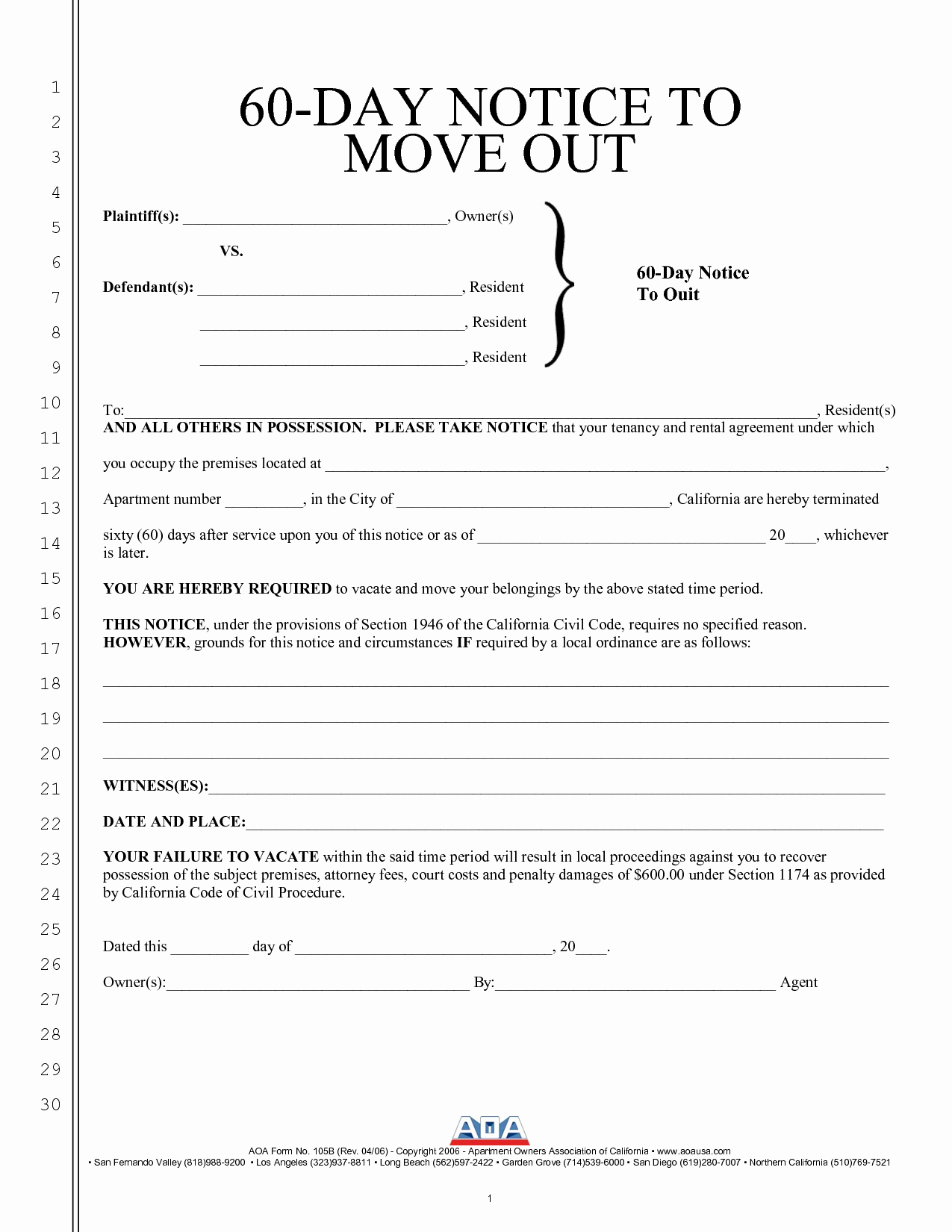 60 Day Notice Template Best Of Best S Of Intent to Move Out Template Sample