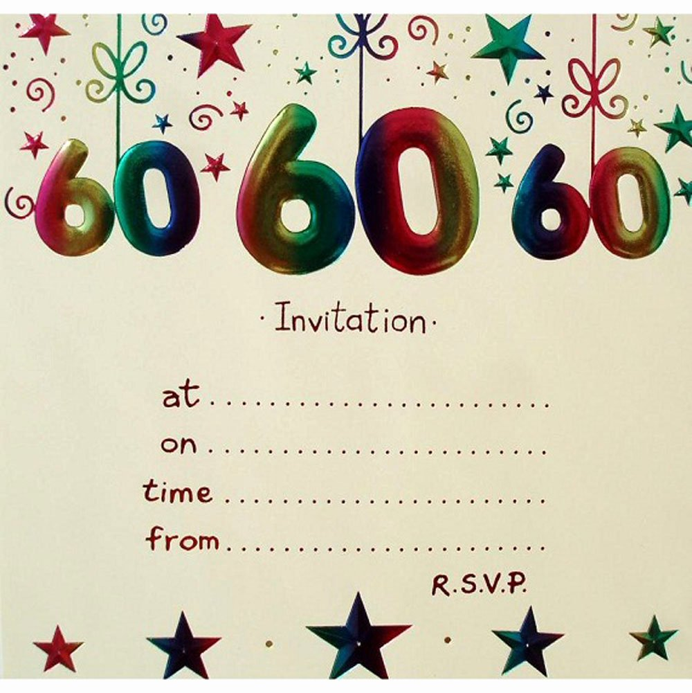 60th Birthday Invitation Template Beautiful 20 Ideas 60th Birthday Party Invitations Card Templates