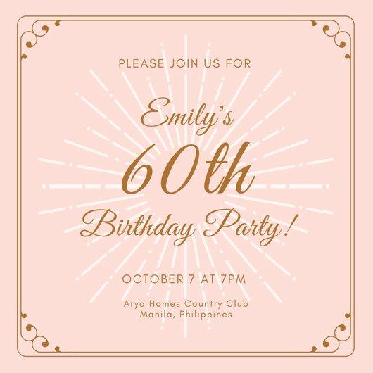60th Birthday Invitation Template Beautiful Customize 986 60th Birthday Invitation Templates Online
