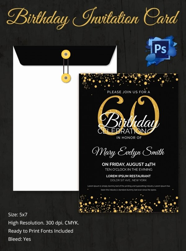 60th Birthday Invitation Template Best Of Birthday Invitation Template 32 Free Word Pdf Psd Ai