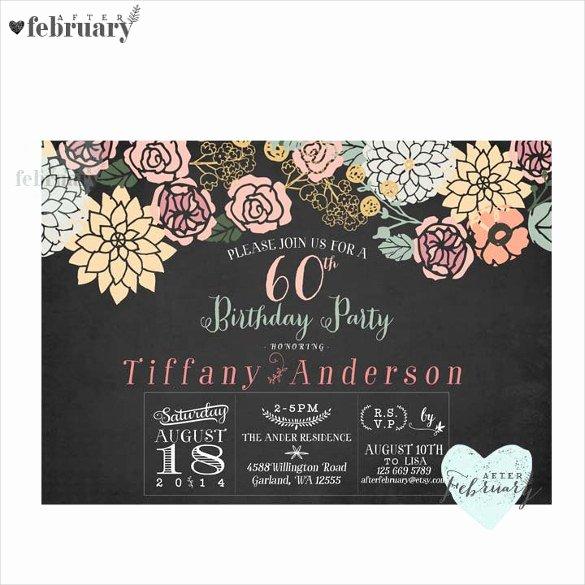 60th Birthday Invitation Template Fresh 26 60th Birthday Invitation Templates – Psd Ai