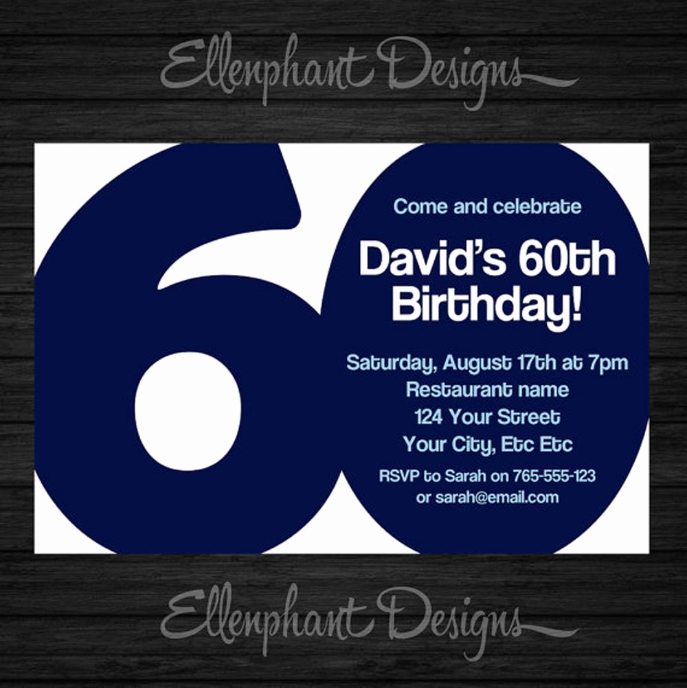 60th Birthday Invitation Template Inspirational 20 Ideas 60th Birthday Party Invitations Card Templates