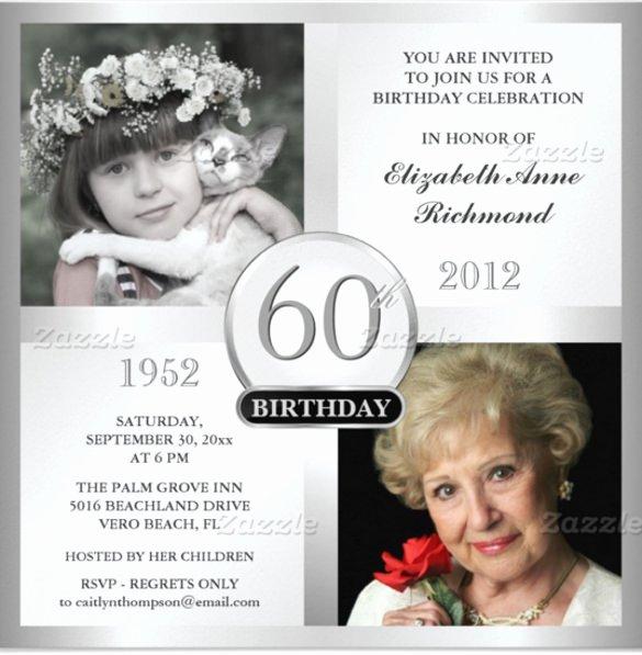 60th Birthday Invitation Template Luxury 28 60th Birthday Invitation Templates Psd Vector Eps
