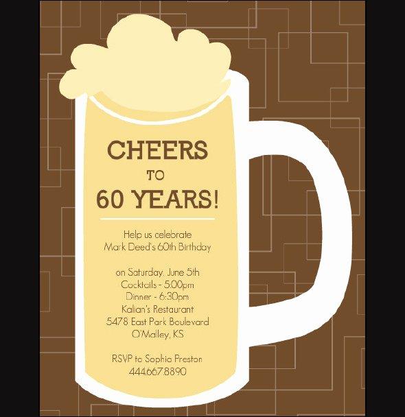 60th Birthday Invitation Template Luxury 50 Printable Birthday Invitation Templates