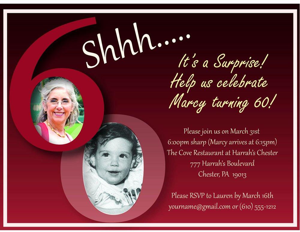 60th Birthday Invitation Template New 20 Ideas 60th Birthday Party Invitations Card Templates
