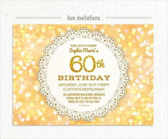 60th Birthday Invitation Template New 26 60th Birthday Invitation Templates – Psd Ai