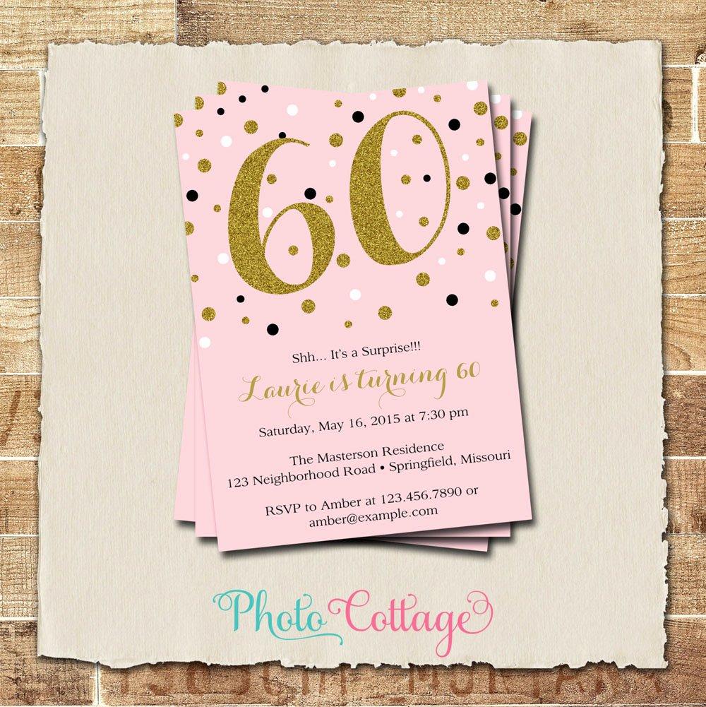 60th Birthday Invitation Template Unique 20 Ideas 60th Birthday Party Invitations Card Templates
