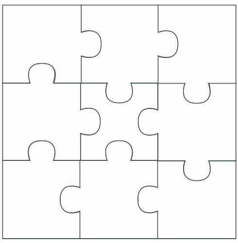 9 Piece Puzzle Template Awesome 8 Best Of Banner Free Printable Puzzle Piece