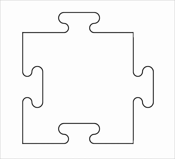 9 Piece Puzzle Template Inspirational 1000 Ideas About Puzzle Piece Template On Pinterest