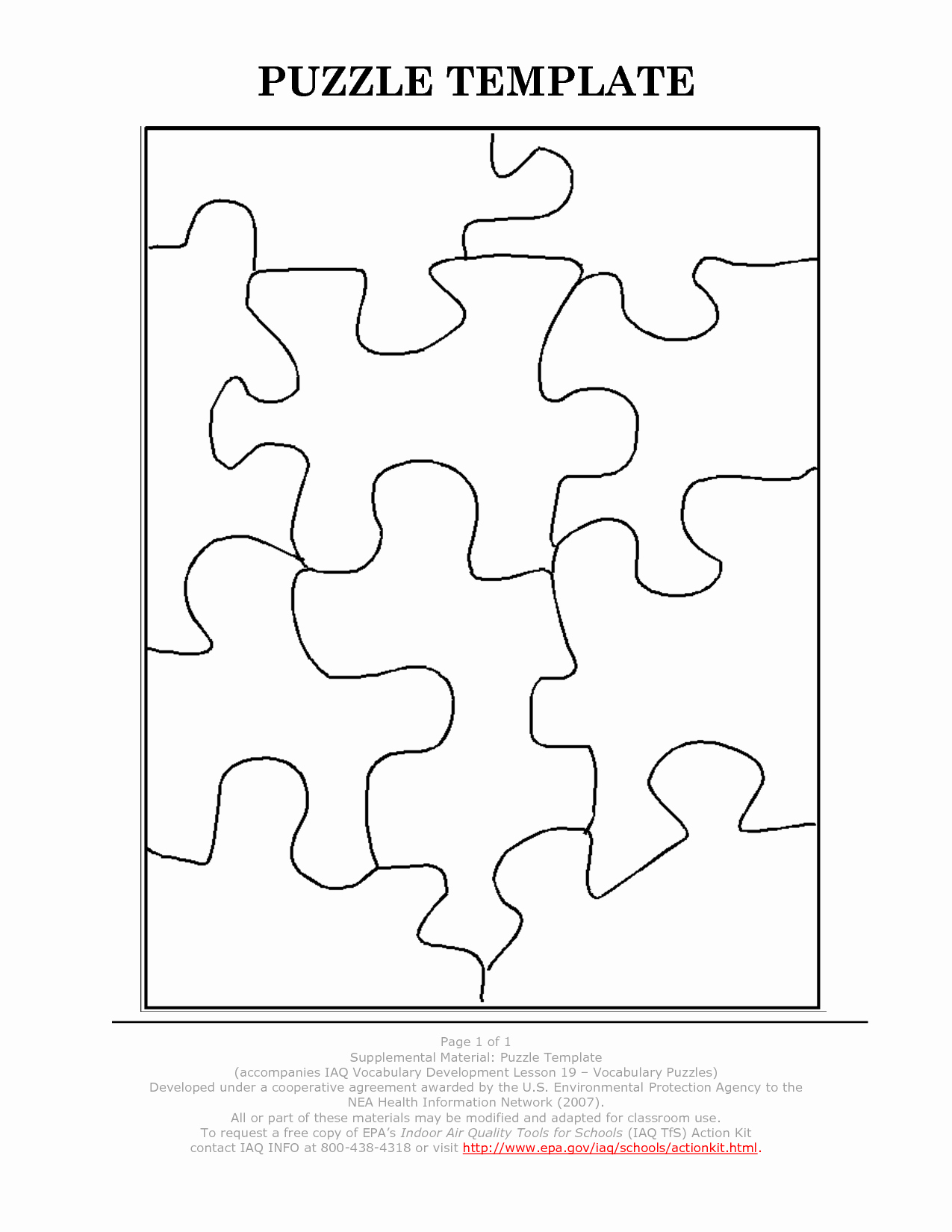 9 Piece Puzzle Template Inspirational Best S Of 9 Piece Jigsaw Puzzle Template 9 Piece
