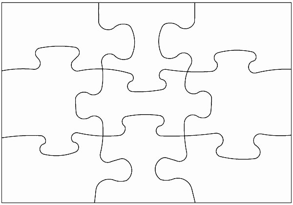 9 Piece Puzzle Template Inspirational Simple Puzzle Piece Template Cut Out – Goeventz