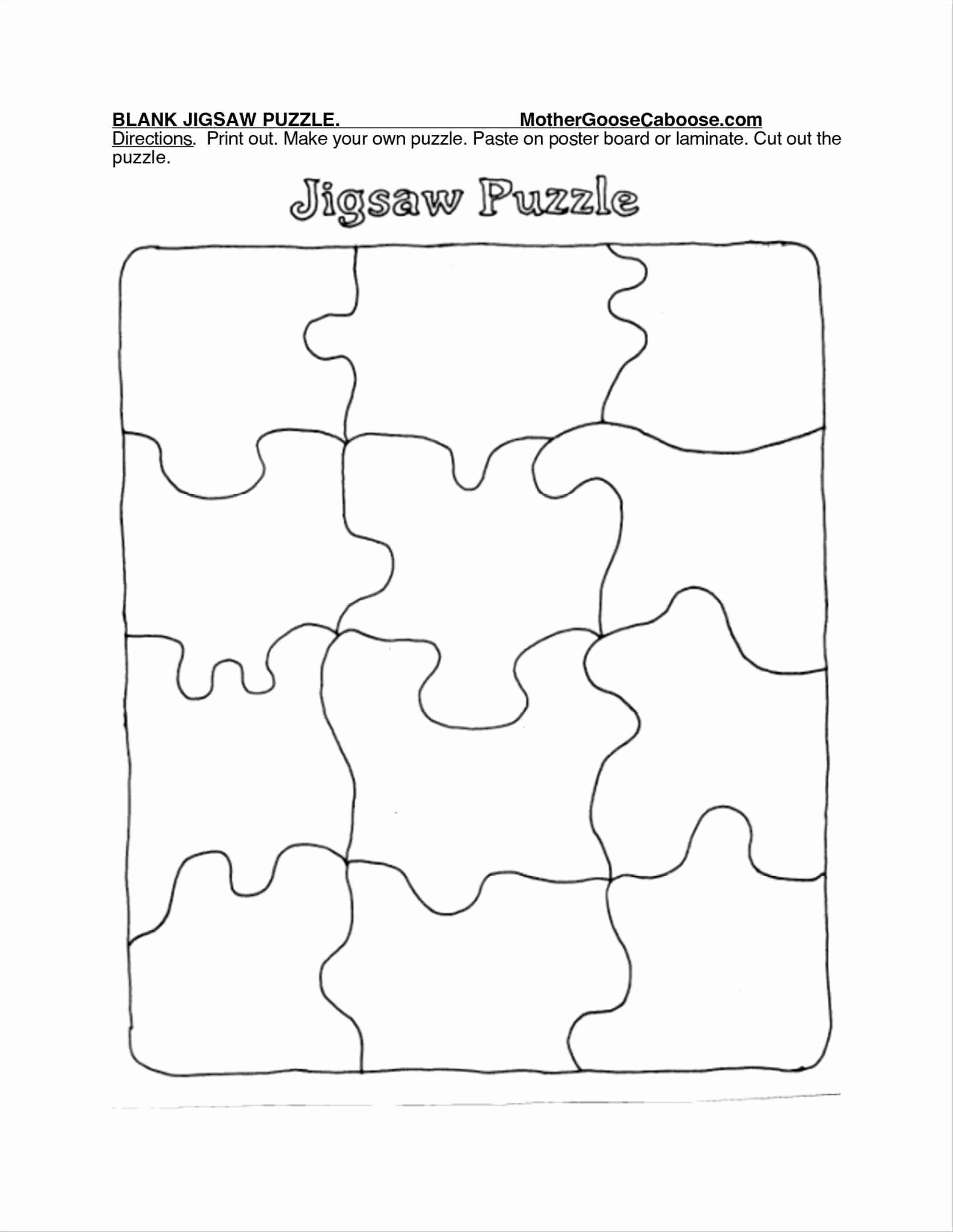 9 Piece Puzzle Template Lovely 9 Piece Jigsaw Puzzle Template