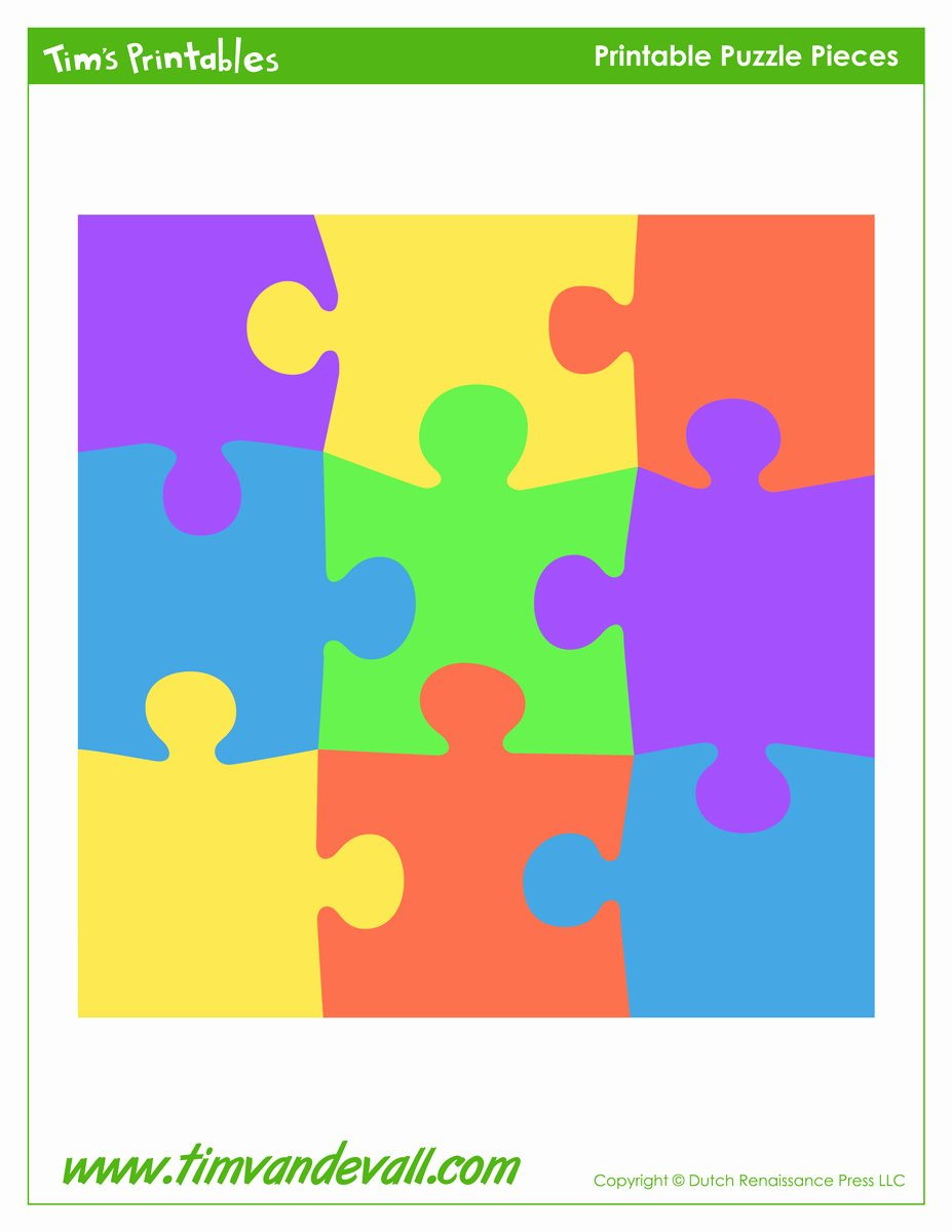 9 Piece Puzzle Template Luxury Puzzle Template Tim S Printables