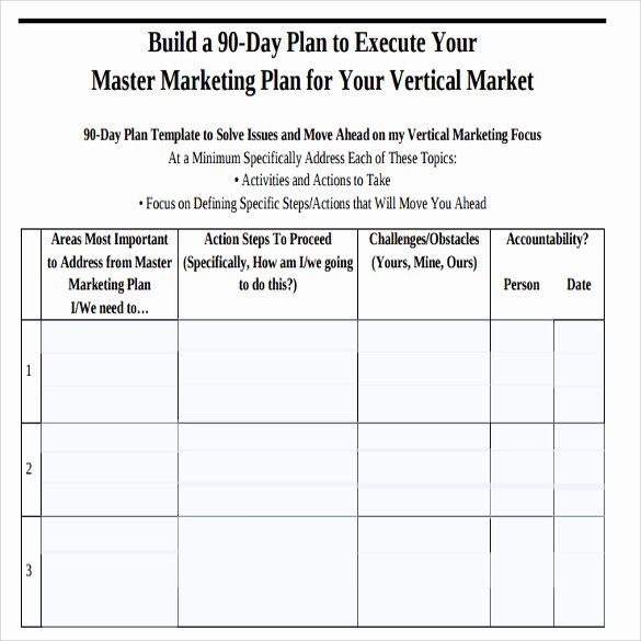 90 Day Plan Template Best Of Sample 90 Day Plan 14 Documents In Pdf Word