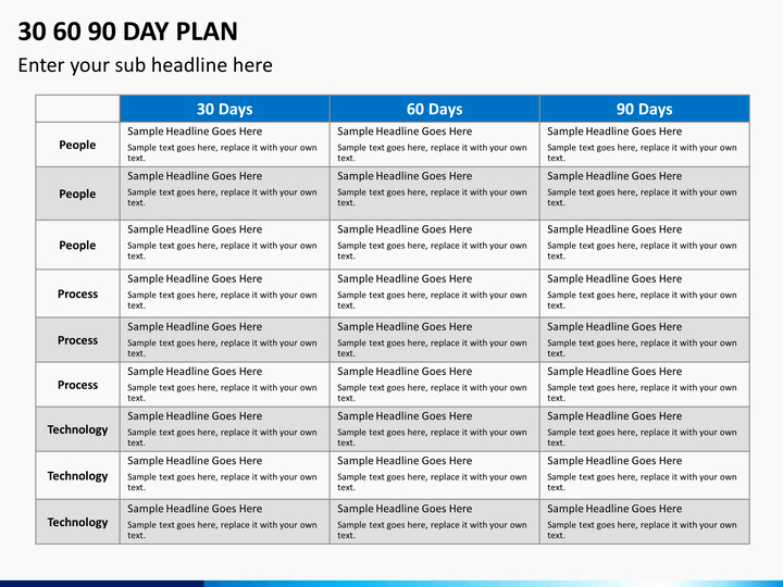 90 Day Plan Template Elegant 30 60 90 Day Plan Powerpoint Template