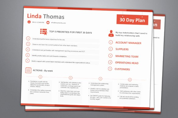 90 Day Plan Template Lovely 29 30 60 90 Day Plan Templates Pdf Doc