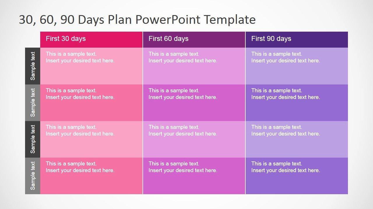 90 Day Plan Template New 30 60 90 Days Plan Powerpoint Template Slidemodel