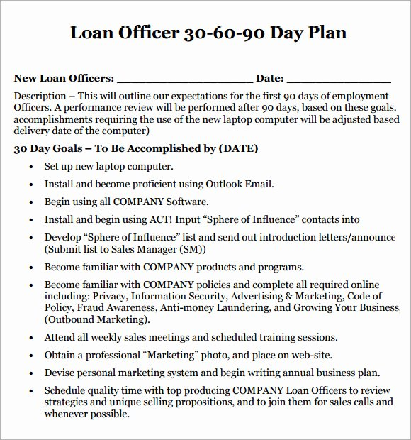 90 Day Plan Template Unique 13 Sample 30 60 90 Day Plan Templates Word Pdf