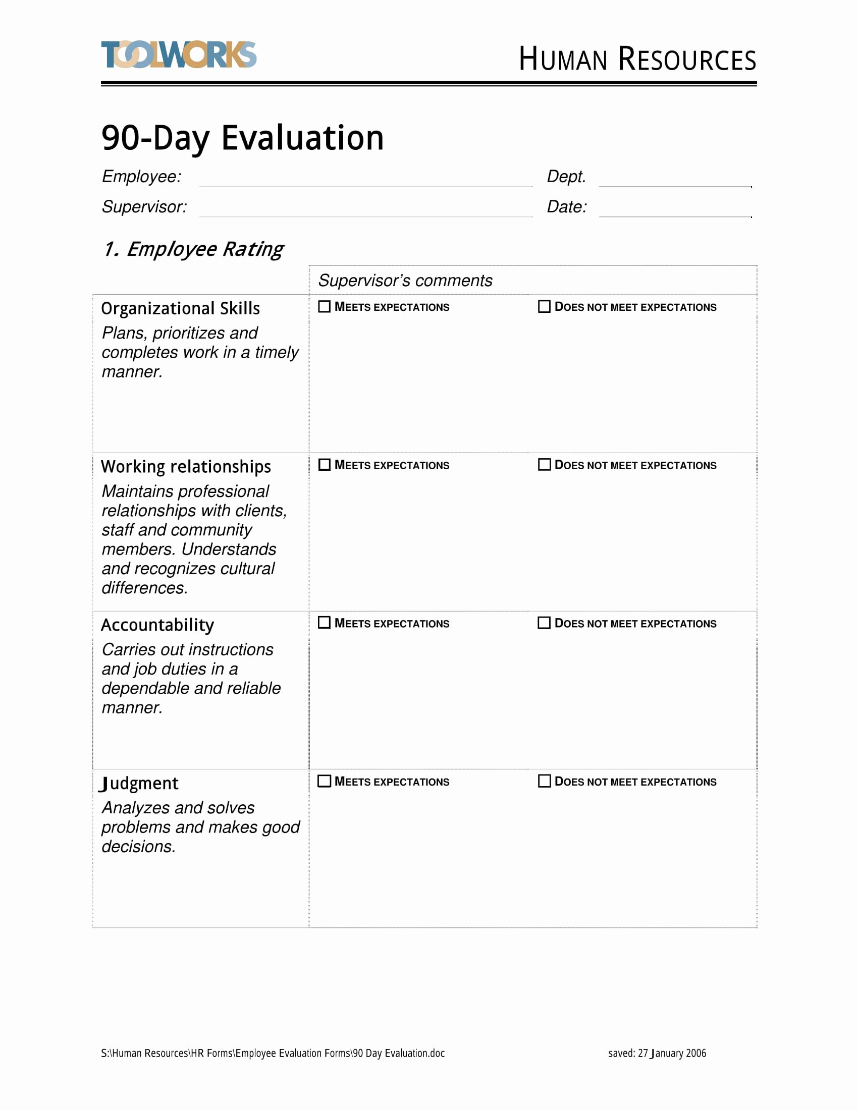 90 Day Review Template Inspirational 14 90 Day Review forms Free Word Pdf format Download