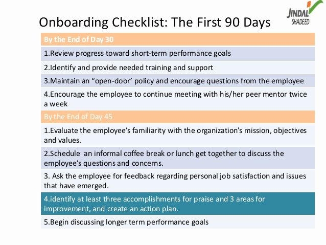 90 Day Review Template Unique Boarding as A Way Of Talent Management