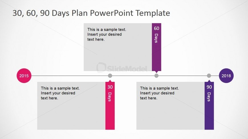 90 Day Review Template Unique Flat Design Powerpoint Timeline Diagram for 30 60 90 Days